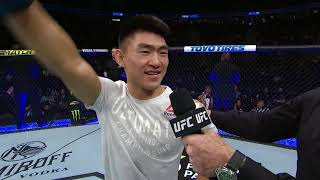 UFC 239: Song Yadong Octagon Interview