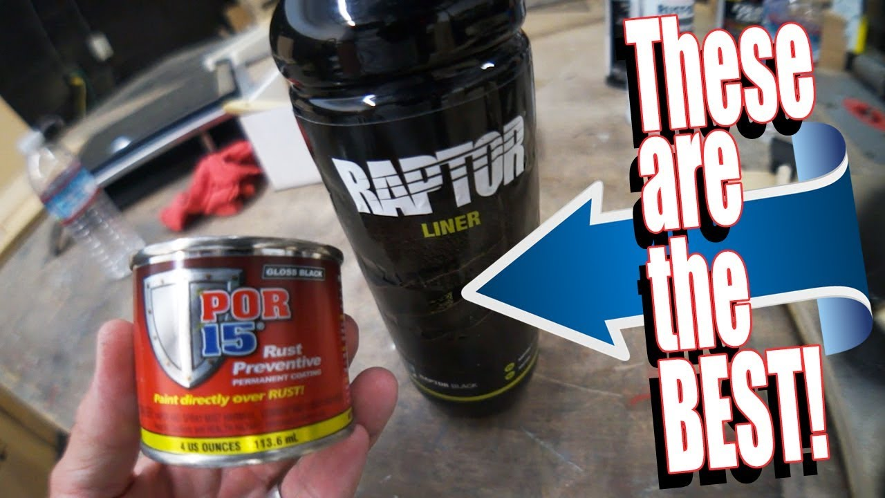 Best Bed Liner >> Comparing Raptor bed liner, POR15 and PAINTS! - AMPLIFIED - YouTube