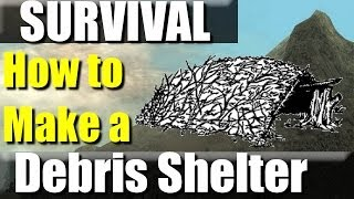 How To Make A Survival Shelter: No Cordage, No Saw, No Ax.