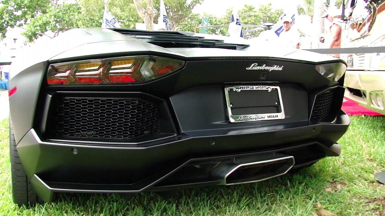 Lamborghini Aventador At The Fort Lauderdale International Boat Show