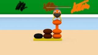 Уроки з Винтиком 3D - Кольори - Чорний, Коричневий, Помаранчевий. – Розвиваючі мультфільми