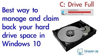 How to manage your full C: Drive full in Windows 10.