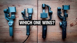 IPHONE GIMBAL SHOOTOUT | Osmo Mobile 2 vs Zhiyun Smooth 4 vs Moza Mini Mi vs FreeVision Vilta M