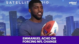 Emmanuel acho, a fox sports analyst and creator of 'uncomfortable conversations with black man,' talks about the importance forcing change within nf...
