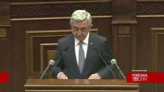 ՀՀ նախագահի ելույթը՝ խորհրդարանում
