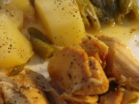 Slow Cooker Italian Chicken With Potatoes And Green Beans