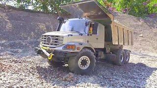 MERCEDES ZETROS 6X6 RC! NEW RC TIPPER OVERLAND IN ACTION! FANTASTIC RC VEHICLES