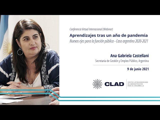 #WebinarCLAD Aprendizajes tras un año de pandemia: nuevos ejes para la función pública