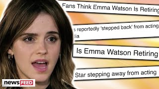 """Despite the many claims that stated emma watson's career has gone """"dormant"""" and she is retiring, a close source to setting record straight! ..."""