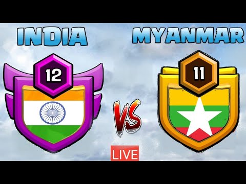 INDIA v/s MYANMAR LIVE TROJAN WAR | CLASH OF CLANS