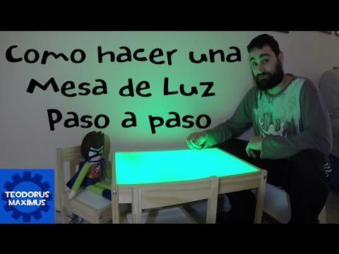 Como hacer una mesa de luz paso a paso youtube - Como hacer una claraboya ...
