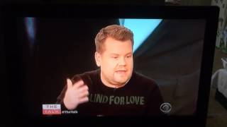 "James Corden talking about Louis Tomlinson on ""The Talk"" - 2.9.17"