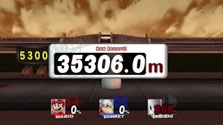 スマブラX ホムコン 協力TAS マリオ&ドンキー 35306.0m SSBB HRC co-op Mario & DK 115833.3ft.(TAS)[WR]