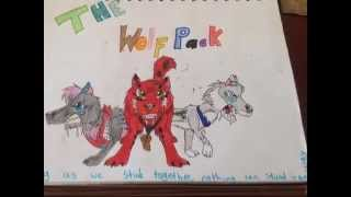 my wolf drawings- Live like a warrior