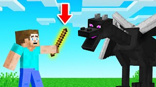 We BEAT MINECRAFT With A STICK! (overpowered)