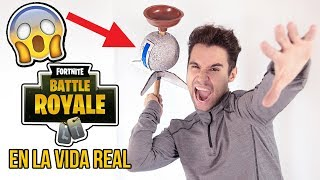 We make this AMAZING FORTNITE item in REAL LIFE - FORTNITE BATTLE ROYALE