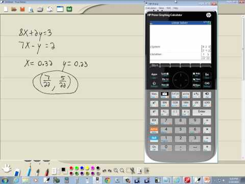 Technology in College Algebra - Systems of Equations - Solving by Matrices - HP Prime