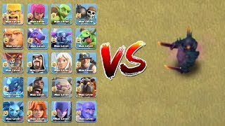 MAX TROOPS VS MAX PEKKA | WHO WILL WIN ?? | CLASH OF CLANS |