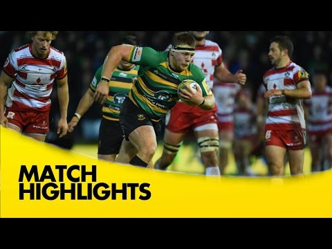 Northampton Saints Vs Gloucester - Aviva Premiership 2015/16  | Rugby Video Highlights