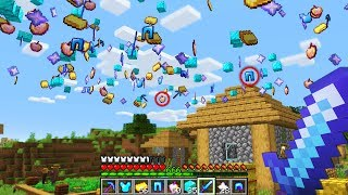 Minecraft UHC but random drops fall from the sky..