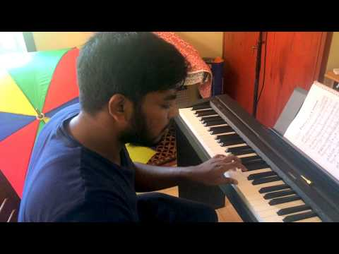 kanmani Anbodu - Piano cover by Franklin Shalom