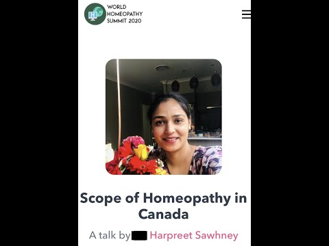 Scope Of Homeopathy In Canada, World Homeopathy Summit 2020