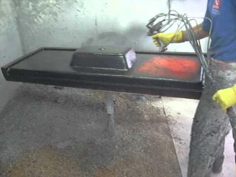 Pintura de pias e tanques em m rmore sint tico liso ou for Pintar encimera granito