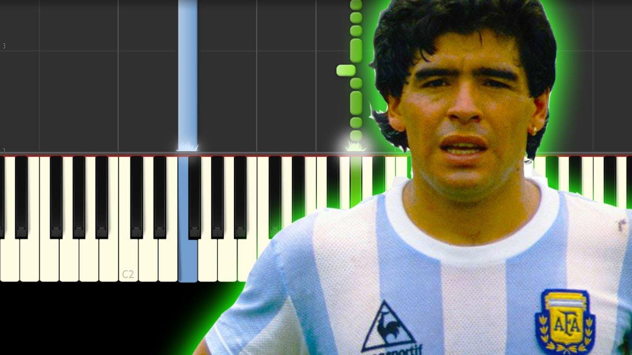 Maradona / La Mano de Dios / Piano Tutorial