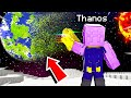 Playing as THANOS in SPACE in MINECRAFT! Infinity Gauntlet
