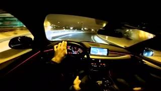 2016 BMW X6 M50d POV night drive launch control