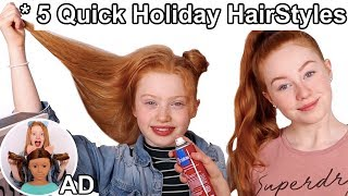 5 Quick & Easy Girls Holiday Hairstyles *My Sister Raylee Does My Hair! | Ruby Rose UK