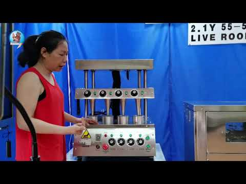 Explain the operation of pizza cone machine PA C4 in the live room 20200627