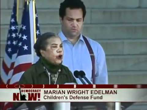 Marian Wright Edelman speaks at the One Nation Working Together Rally