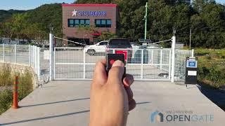 오픈게이트 진주 회사 자동대문 메쉬휀스 자동문 메쉬 자…