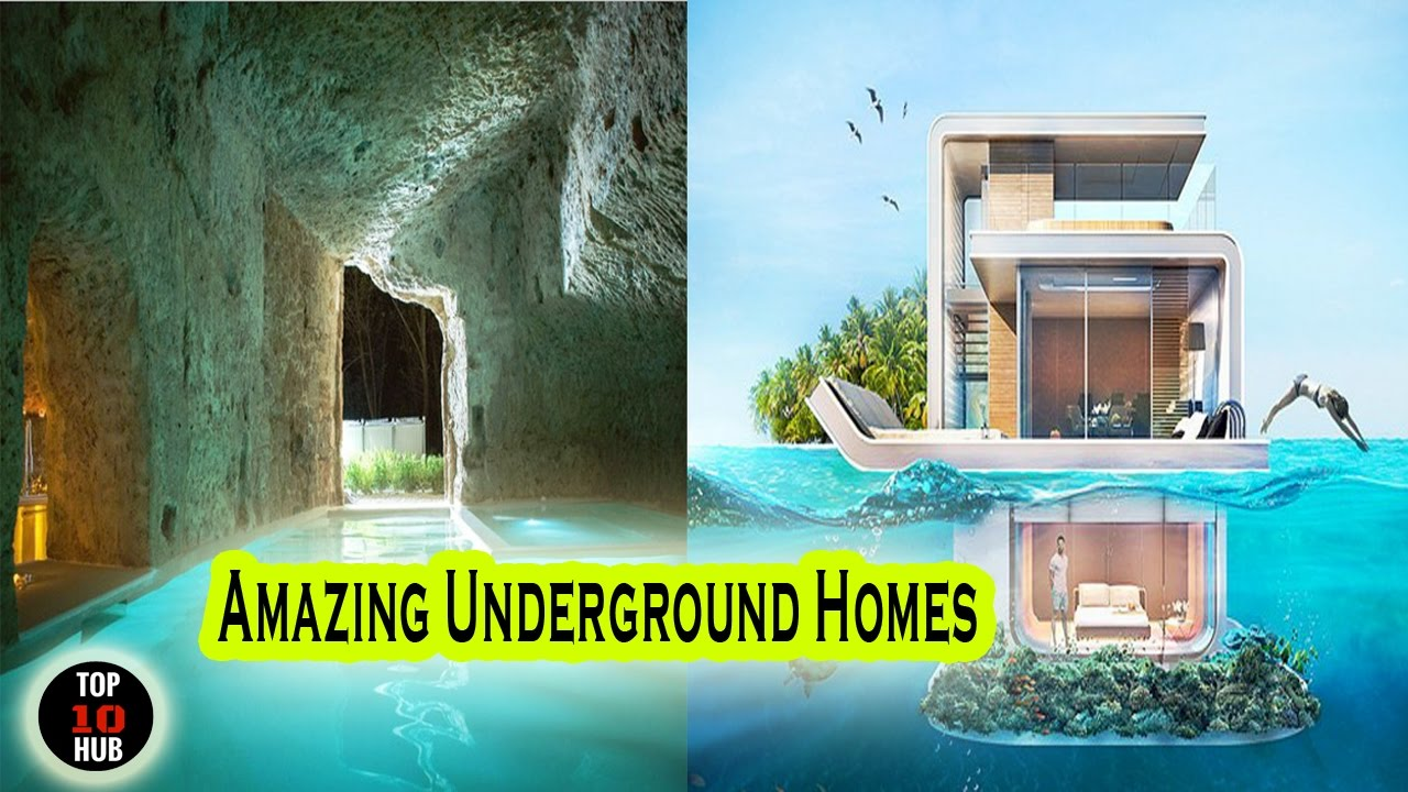 Top 10 amazing underground homes amazing house youtube for Top ten home builders