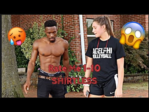 RATE ME 1-10 Public Interview| SHIRTLESS 👀