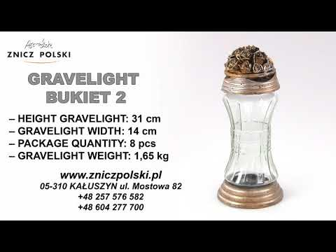 wholesale gravelights grave Light  BUKIET 2 Glass bouquet of artistic candle on the cemetery