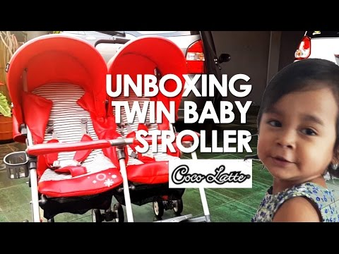 UNBOXING COCOLATTE TWIN STROLLER  CL-550 - Twin Baby Preparation!