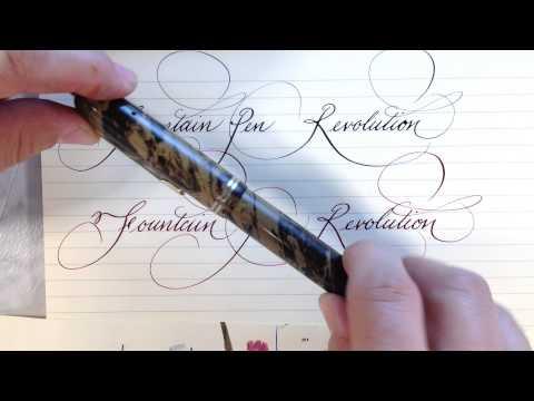 Fountain Pen Revolution flex nibs and pens.