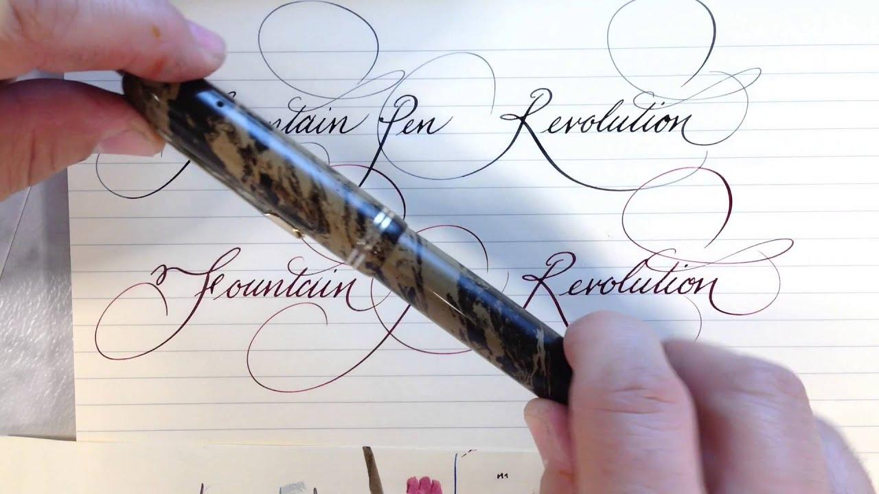 fountain pen revolution flex nibs and pens youtube