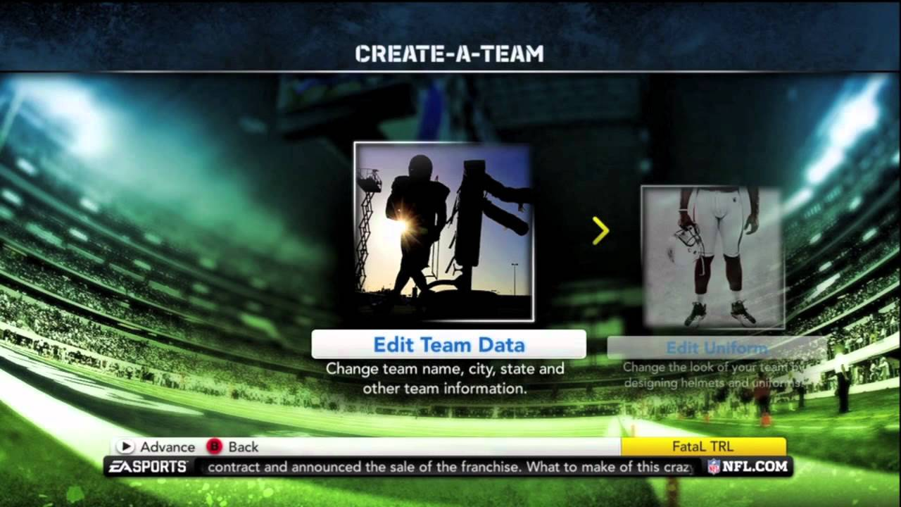 madden 12 how to create your nfl team youtube