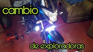 pulsar ns 200 modificada || cambio de exploradoras