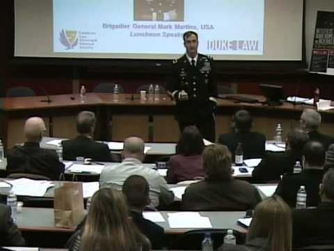 LENS Conference 2013 | Brig. Gen. Mark Martins, JAGC, Chief Prosecutor, Military Commissions