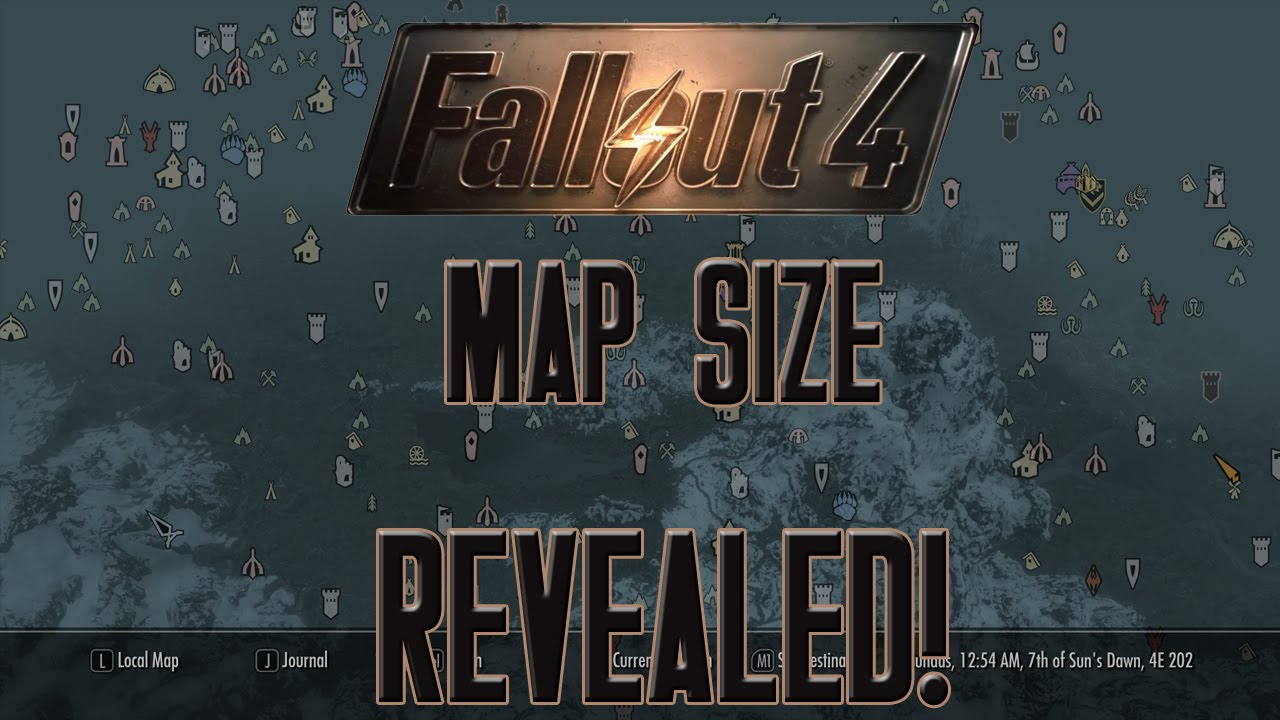 FALLOUT 4 Map Size REVEALED! - YouTube