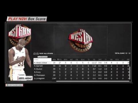 NBA 2K18 Kareem Show 27 Points 5 Blk Teamhands All Star