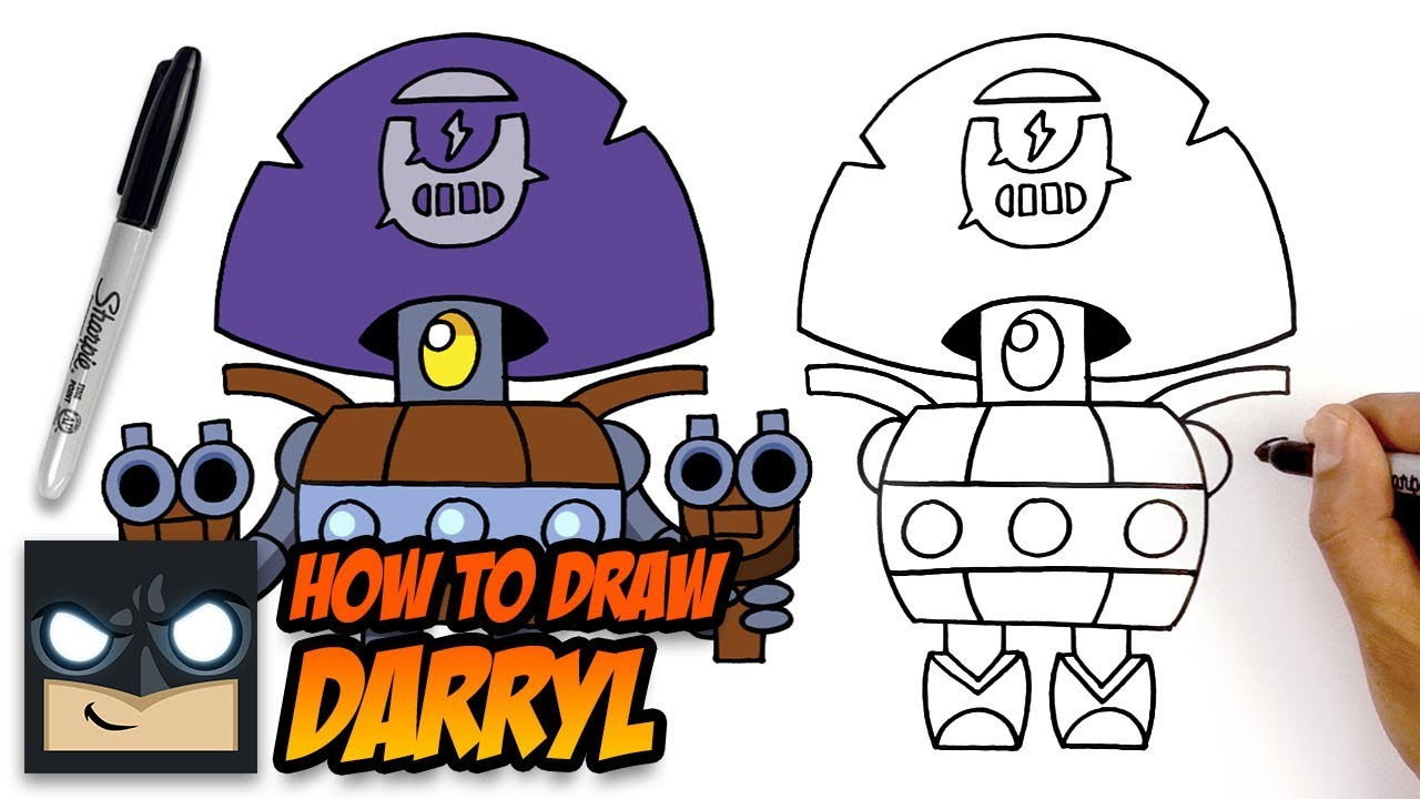 How To Draw Brawl Stars Darryl Step By Step For Beginners