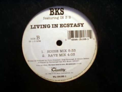 BKS - Living In Ecstasy (House Mix) 1992 - Vinyl