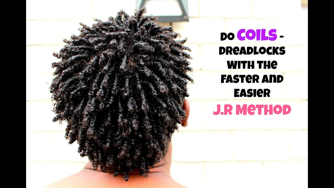 Men Hair How To Coils Dreadlock With The J R Method Fast Easy