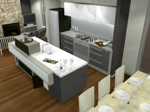 Small Modern Kitchen Design 3D Animation By Minosa - Youtube