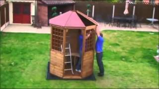 How To Build A Garden Arbour By Taylors Garden Buildings